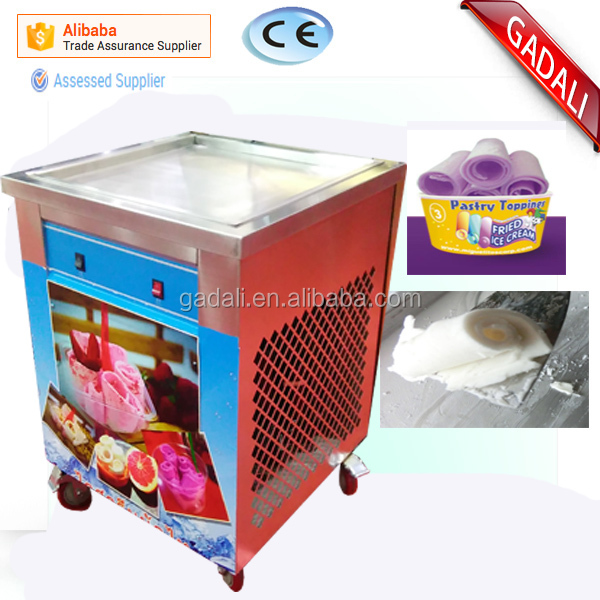 2017 cold pan ice pan fry fried ice cream machine, thailand rolls fried ice cream , equipment for the ice cream fried (ZQR500)
