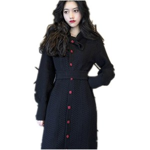 2018 HangZhou Yongda High cold temperament women's wear goddess woollen dress knee-length French niche winter knit dress doll sk