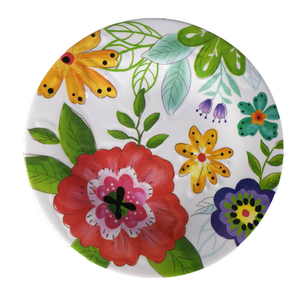 Food grade restaurant bulk buy traditional dragon and phoenix printing melamine chinese style plate
