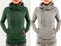Wholesale China Factory Women's Plain Gym Jackets Of Embroidered Hoodie