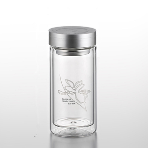 Fuguang 680ml Double Glass Loose Leaf Tea Tumbler With Infuser (700-680)