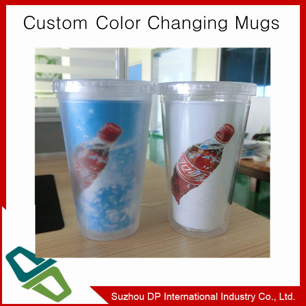 FDA approve Color changing plastic water bottle promotional