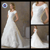 Em0111 Short sleeve modest wedding dress spanish wedding dresses for fat and low