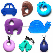 China Manufacturer BPA Free Food Grade Silicone Teething Pendant/Foot Pendant Chew Bead