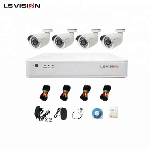LS VISION 1080p Standalone CCTV 2mp 4ch AHD Camera DVR Kit for Home Security Recording System