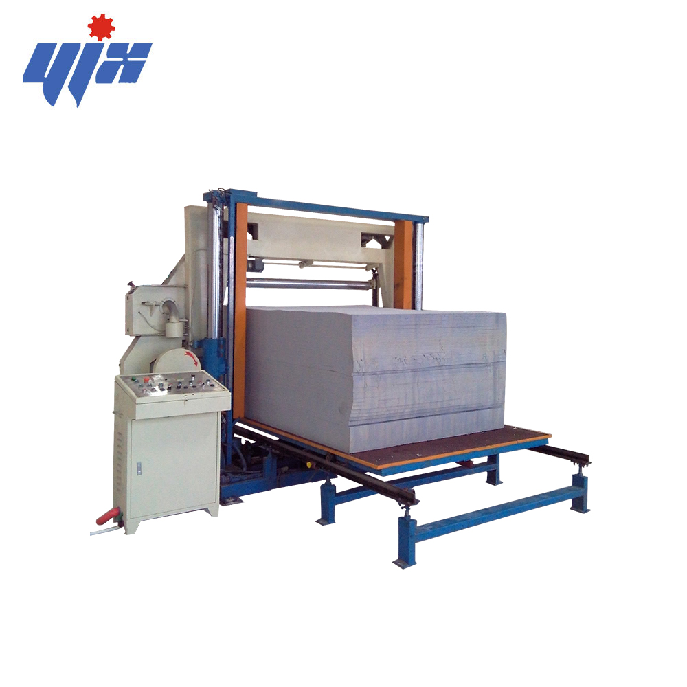 Factory supply foam horizontal sponge flat cutting saw machine