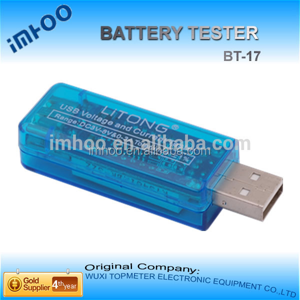 Mini USB Power Current and Voltage Tester Detector Test heavy duty car battery