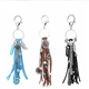 Creative New Design Tassel leather Keychain Pendant Fashion Alloy Accessories Turquoise Car Metal Key Chain Ornaments