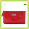 lady fashion red PVC leather promotional cosmetic bag 2016 cosmetics factory