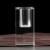 hot sale good quality column shaped crystal clear pen holder for business gift