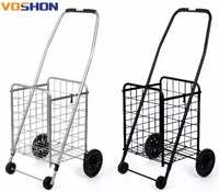 Fashion cheap collapsible wheeled trolley shopping cart foldable shopping trolleys cart