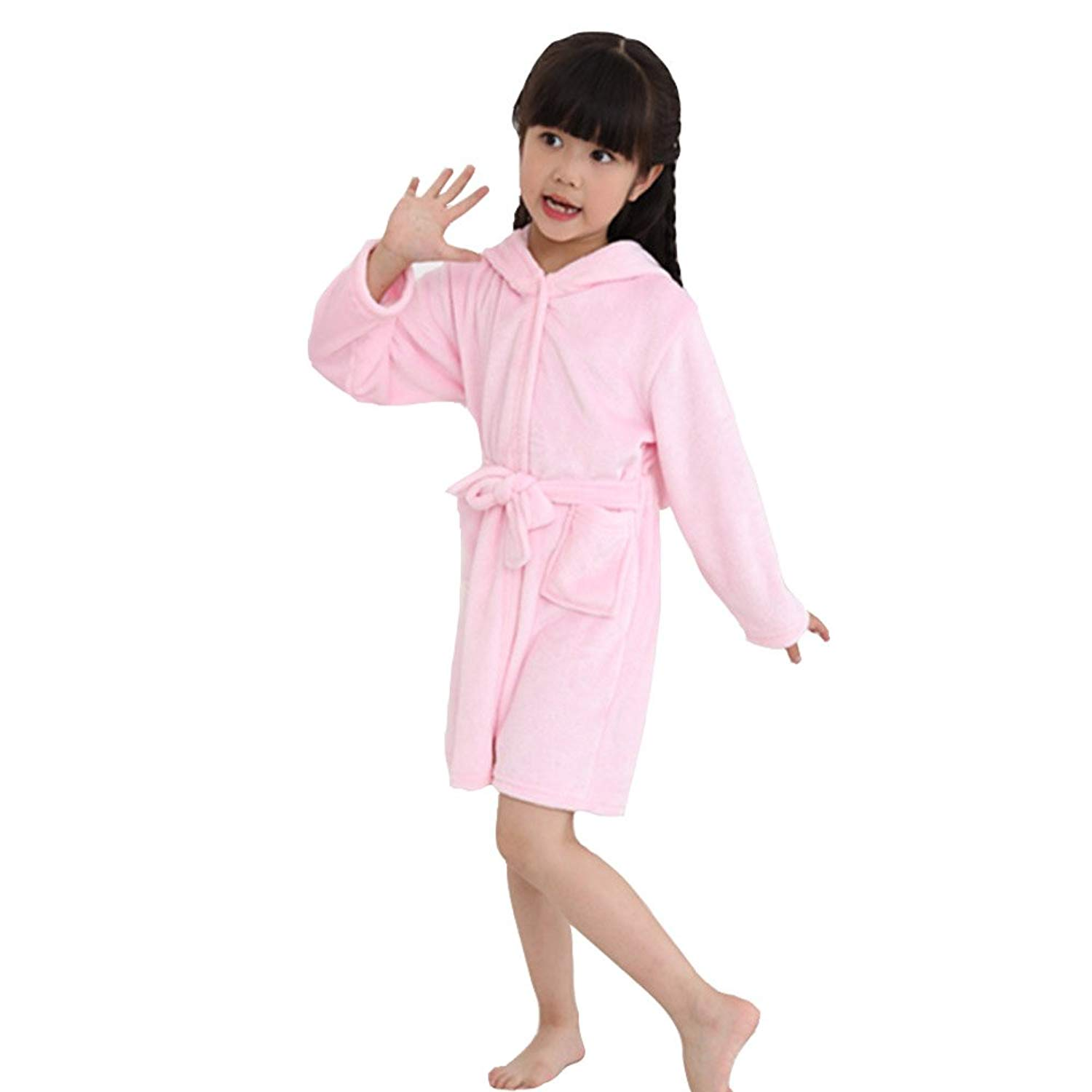 8cd1e739fd Get Quotations · Kids Animal Bathrobe Soft Warm Flannel Hooded Unicorn  Cosplay Bathrobe Dressing Gown Night Lounge Wear