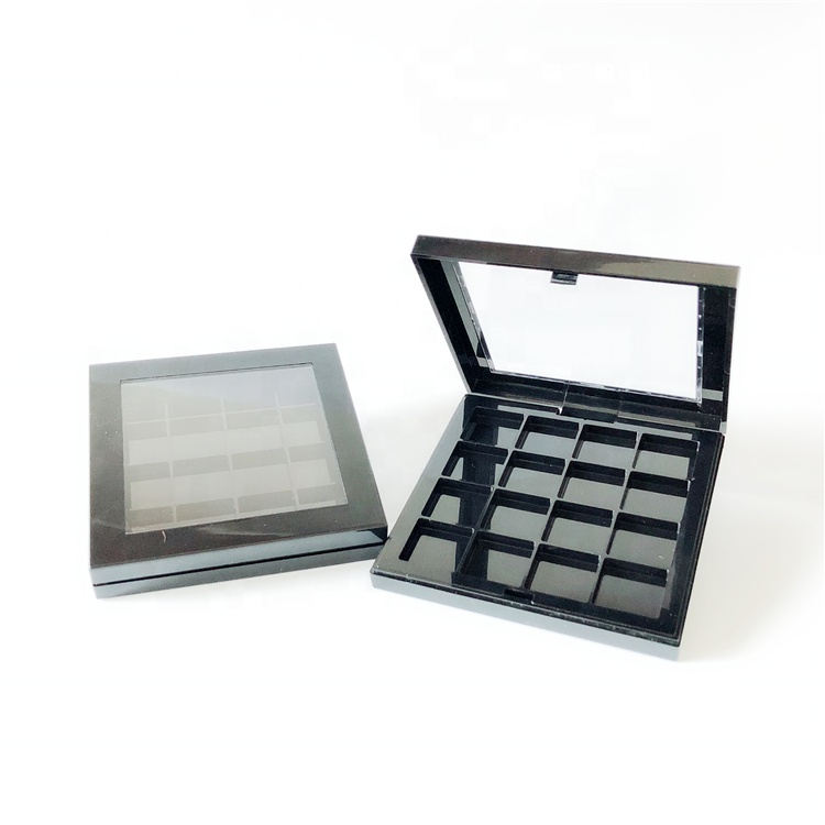 Eyeshadow Palette Color Visible Black 16 Colour Empty Eyeshadow Container
