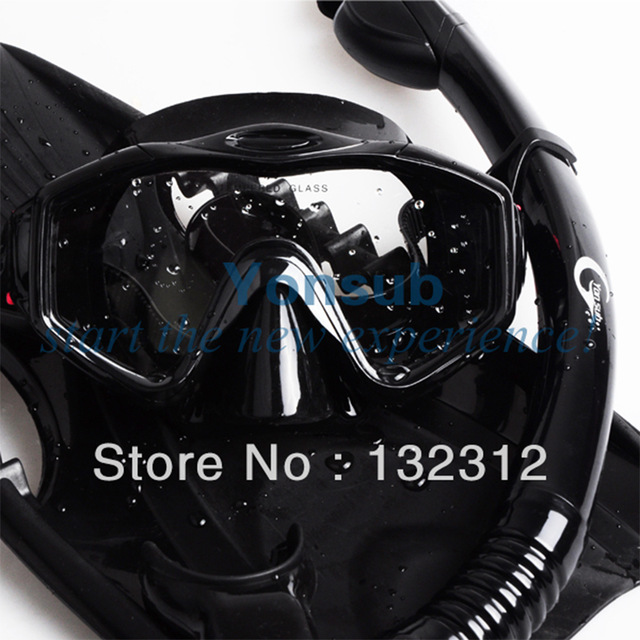 Diving professionale set Con Mask Snorkel Pinne Attrezzatura subacquea Regolabile