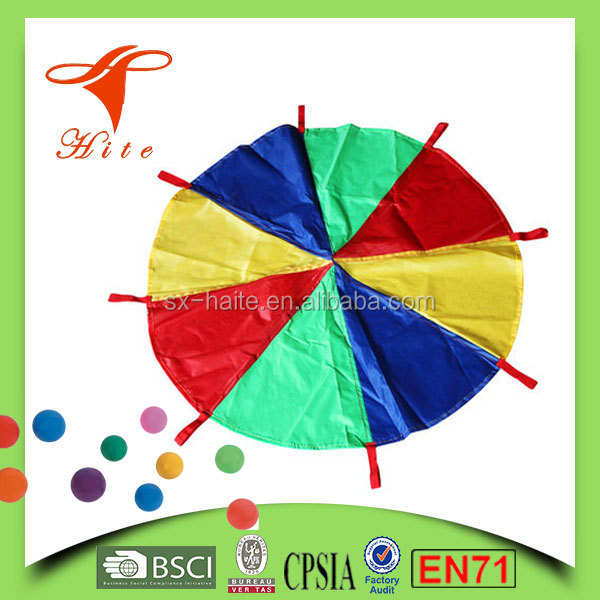 (6 feet size ) Children Kids Play Tent Rainbcow Parachute Outdoor Game Exerclse Sport kids toy playing tent for early learning
