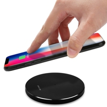2018 Trending products 5V / 2A wireless charger for iphone, thin Qi stand universal fast charging charger wireless