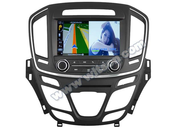 WITSON FOR OPEL INSIGNIA 2014 DVD WITH STEERING WHEEL CONTROL WITH A8 DUAL CORE CHIPSET DVR SUPPORT WIFI 3G APE MUSIC BACK VIEW