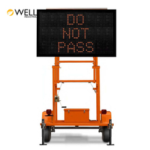 Solar Led Screen Trailer Portable Advertising Digital Display Traffic Message Board Color Road Vms