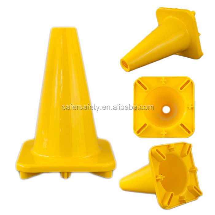 High End Unique Rubber PVC 21*21CM Base Construction Small Orange Safety Cones
