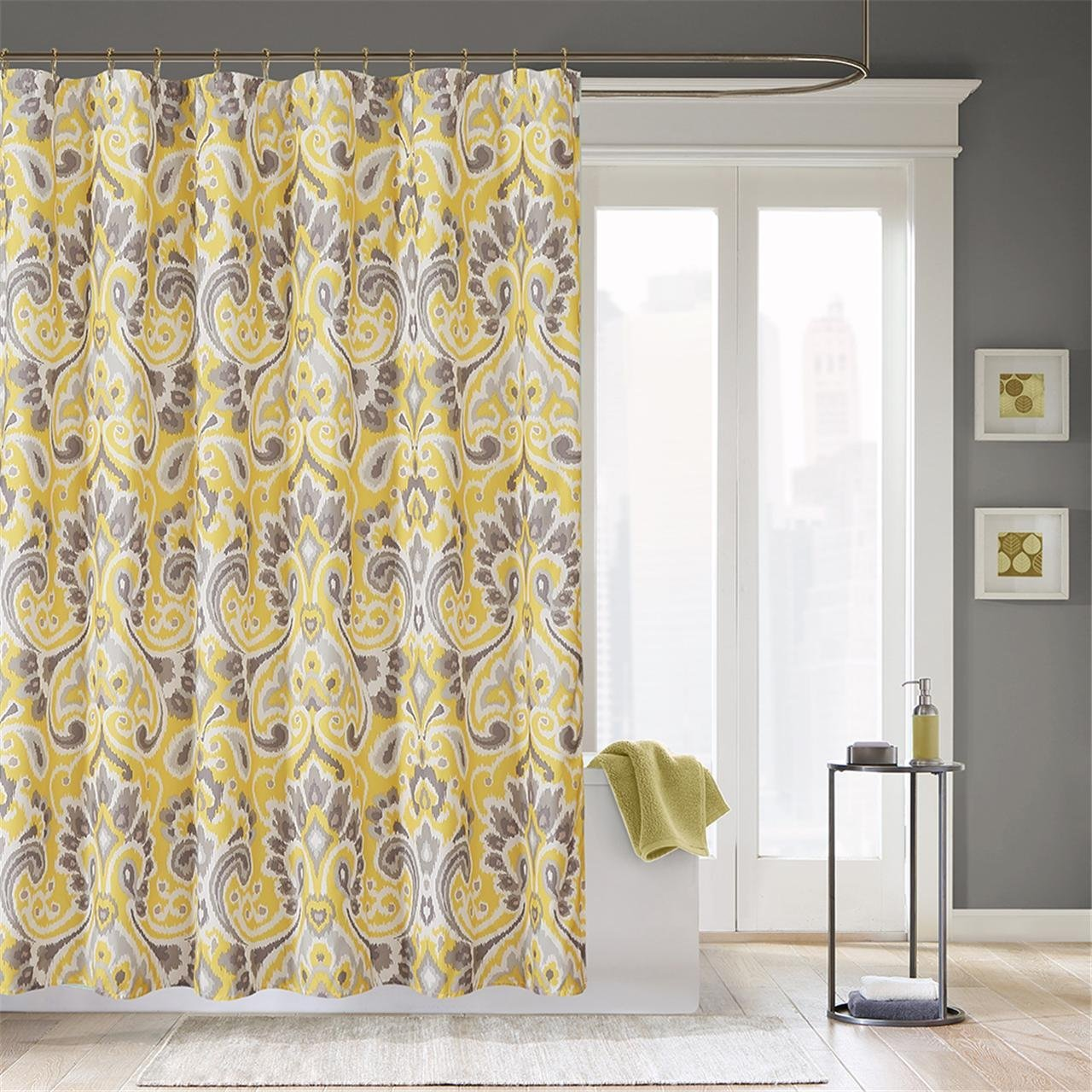 Get Quotations Madison Park Capris Modern Shower Curtain Abstract Casual Desig Curtains For Bathroom 72