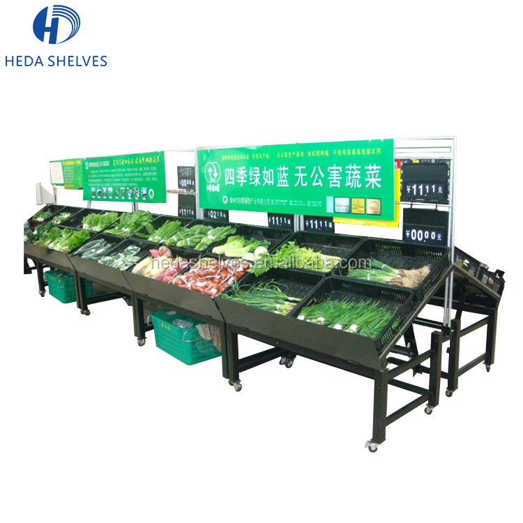 Custom Excellent Quality Fruit Store Rack Supermarket Display Shelves For Vegetable