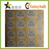 China factory direct wholesale QC pass sticker,QC sticker,pass sticker
