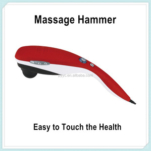 2016 New Hand Held Body Massager Red Frosted Surface