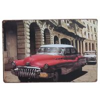 Classic Old Car Retro Metal Decorative Vintage Tin Sign Cafe Club Garage home Restaurant Art Painting Iron