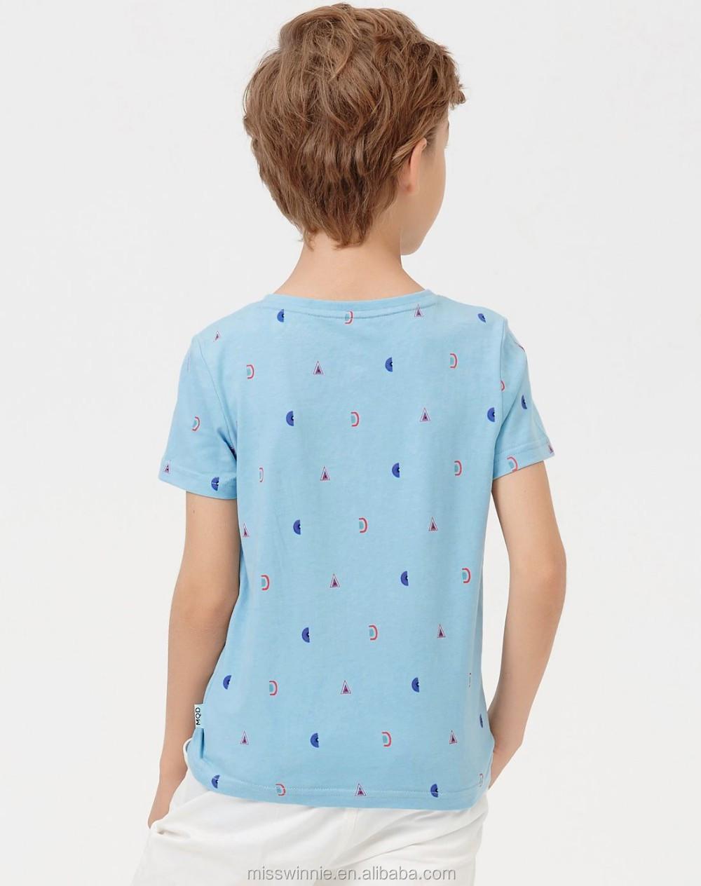 307bb59cb186 kids wear new model summer boys clothes comfortable boys light blue t-shirt