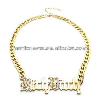 Hot urban ghetto rhinestone rich bitch word pendant necklace buy hot urban ghetto rhinestone rich bitch word pendant necklace aloadofball Choice Image