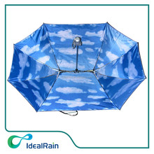 21 inches blue sky folding dual two person and family umbrella