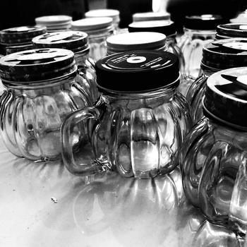 Wedding Decoration Custom Printed Fluted Mason Glass Jars With Lids