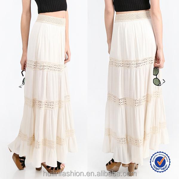 Primavera Verano todo tipo de faldas de ganchillo crochet maxi falda  bohemia 0f0b74d16dbc