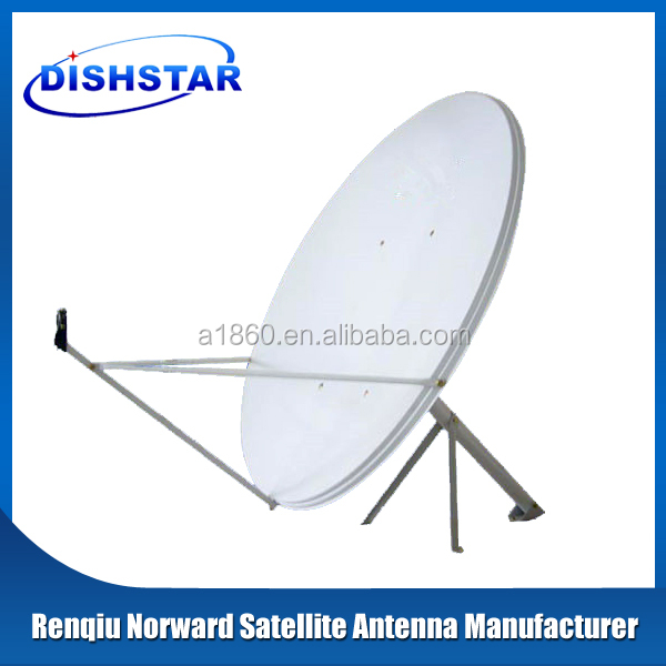 ku 100cm satellite dish antenna with wall mount base