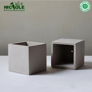 Cube Concrete Silicone Mold Planter Flower Pot Cement Vase Mould Craft Handmade Garden Decoration Tool