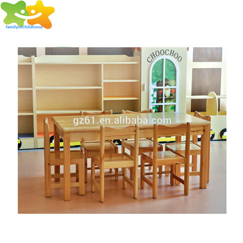 High quality factory price preschool solid wooden kids table and chair for sale