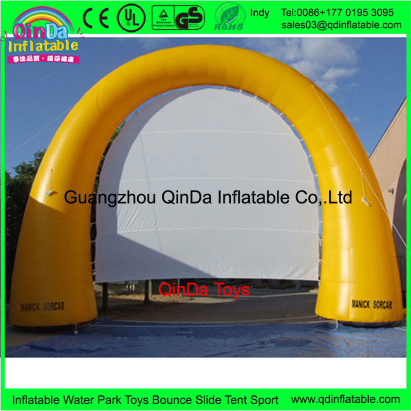 Guangzhou factory wholesale advertising arch inflatable air rear projection screen for photo display