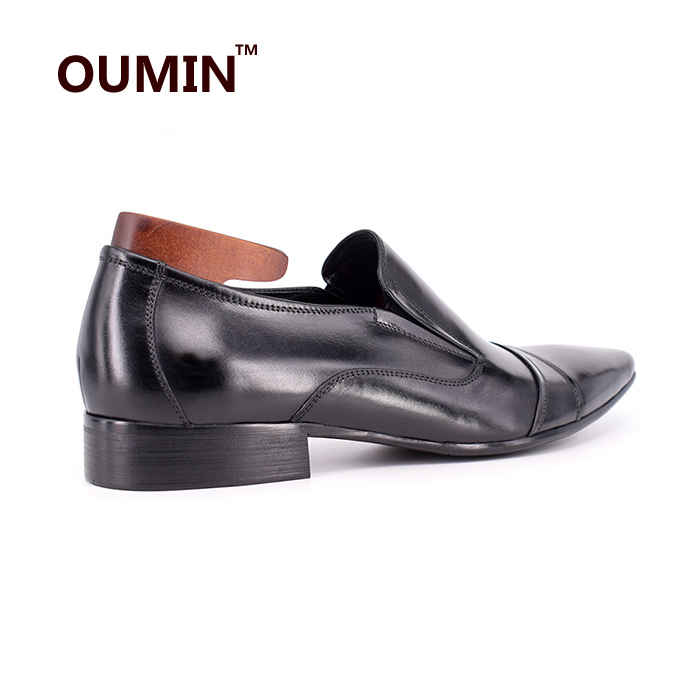 dress office toe pointed latest design shoes leather men 2018 Italian 8TwqRq70