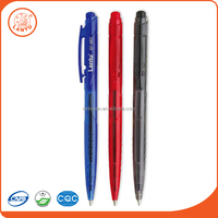 Lantu 2016 Promotional Custom Logo Plastic White Barrel Stick Ball Pens
