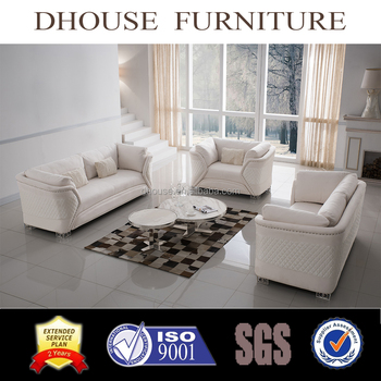 Luxury Italian New Classic White Fabric/Velvet Sofa Set 1+2+3 AL045
