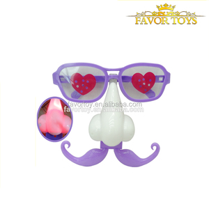 Latest interesting plastic kids toys halloween plastic eyeglasses with glowing nose