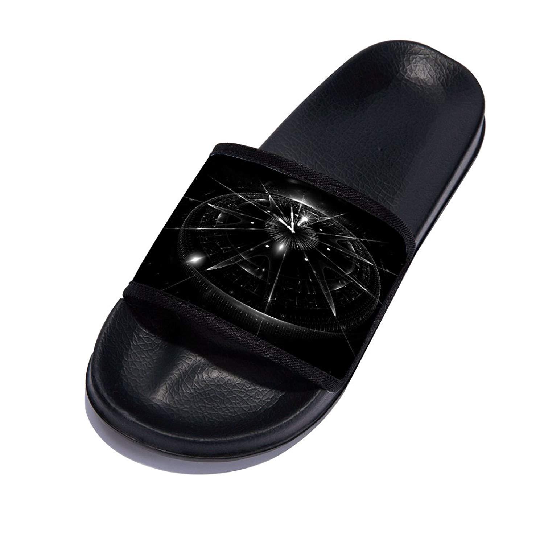 4b1d81967 Get Quotations · GordonKo Slides Slippers for Men Comfortable Beach Pool Non -Slip Stylish Outdoor Sandals Black