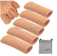 Gel Finger Toe Cap Sleeve,SiliconeToe Protector Tube for Bunion,Hammer Toe