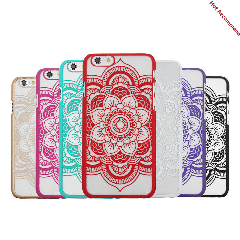 2016 <strong>Hot</strong> For Apple iPhone 6 Phone cases Coque Mandala Flower Phone Hard Cases covers Capa Fundas Capinhas Para Carcasas