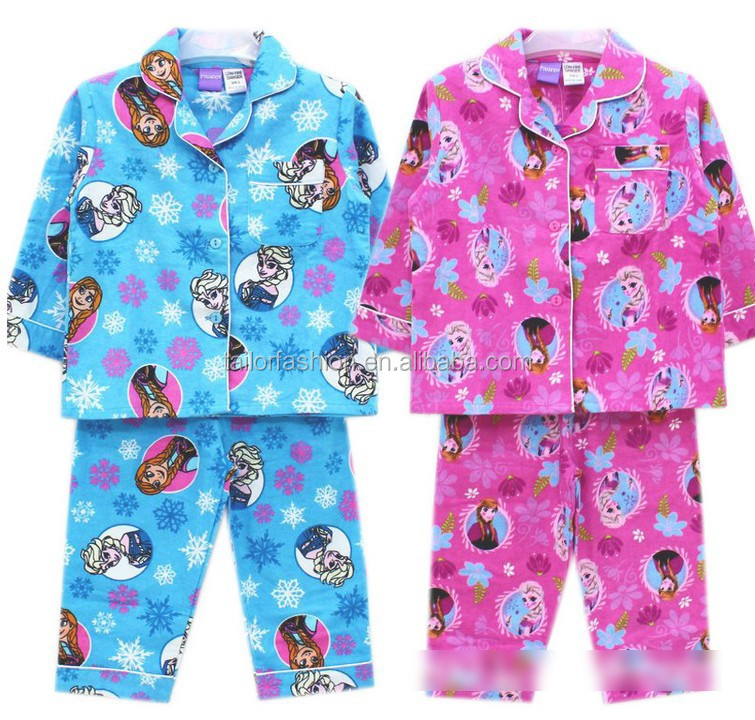 Frozen Girls Cotton Flannel Pajamas Toddler Cotton Flannel Pajamas ...