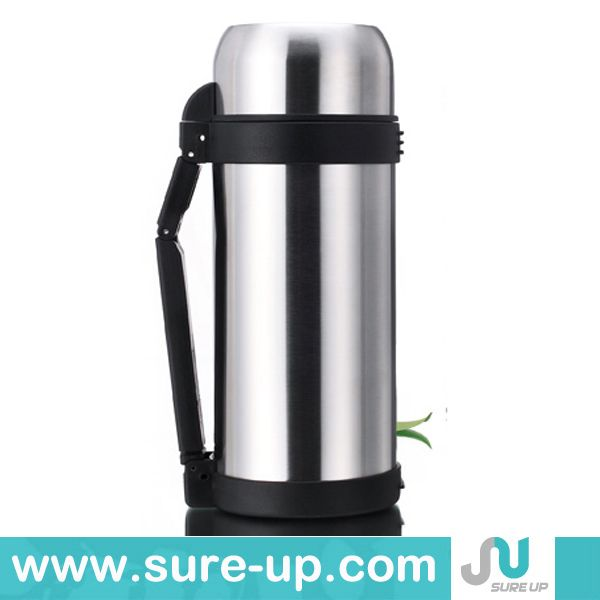 High quality double wall stainless steel thermal flask with strap, vaccum flask tea hot sales(FSUL)