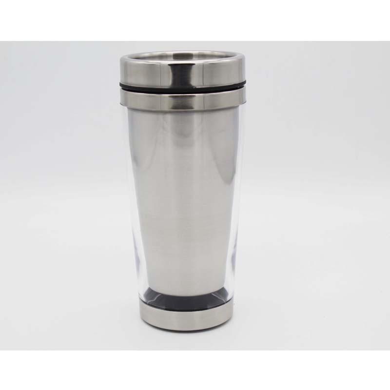 Rvs Thermo Mok auto Cup, 16 oz papier insert rvs tumbler, roestvrij staal koffie mok