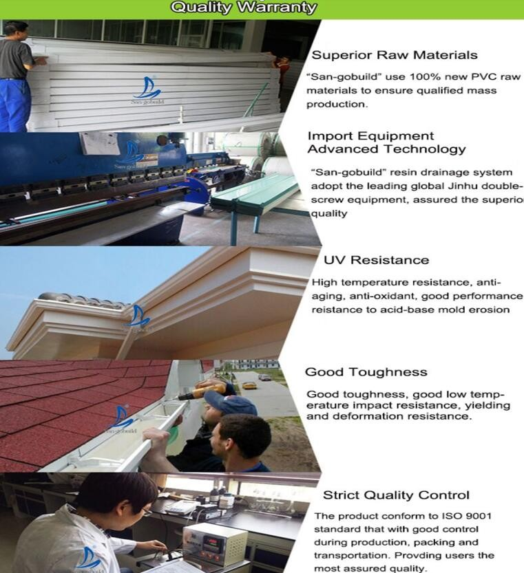 5 Inch Pvc Pipe And Rain Gutter System Pvc Guttering