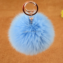 Home Textile,Decoration Use and Rabbit Material fur pom pom keychain