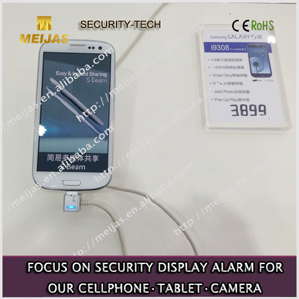 Showing transparent acrylic smartphone price tag display